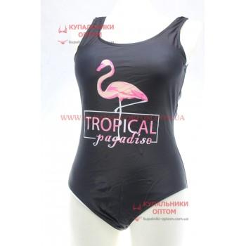 Цельный купальник фламинго Uollizza E19623
